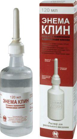 Энема Клин, раствор для ректального введения, 120 мл, 1 шт.