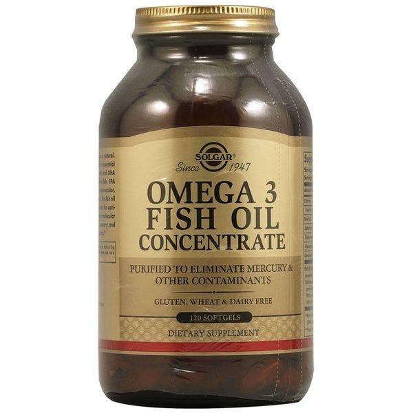 Solgar Концентрат рыбьего жира Омега-3, капсулы, 120 шт.