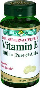 Natures Bounty Витамин Е 100 МЕ, 100 мг, капсулы, 100 шт.
