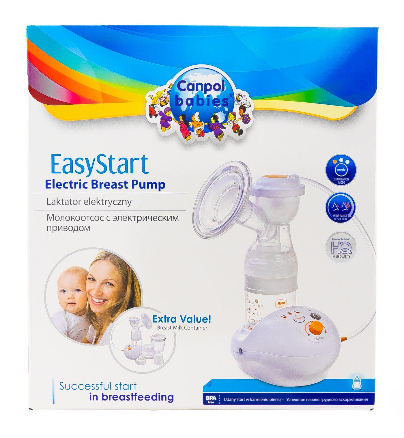 фото упаковки Canpol EasyStart молокоотсос электрический