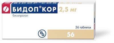 Бидоп Кор, 2.5 мг, таблетки, 56шт.