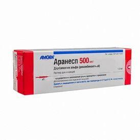 Аранесп, 0.5 мг, раствор для инъекций, 1 мл, 1 шт.