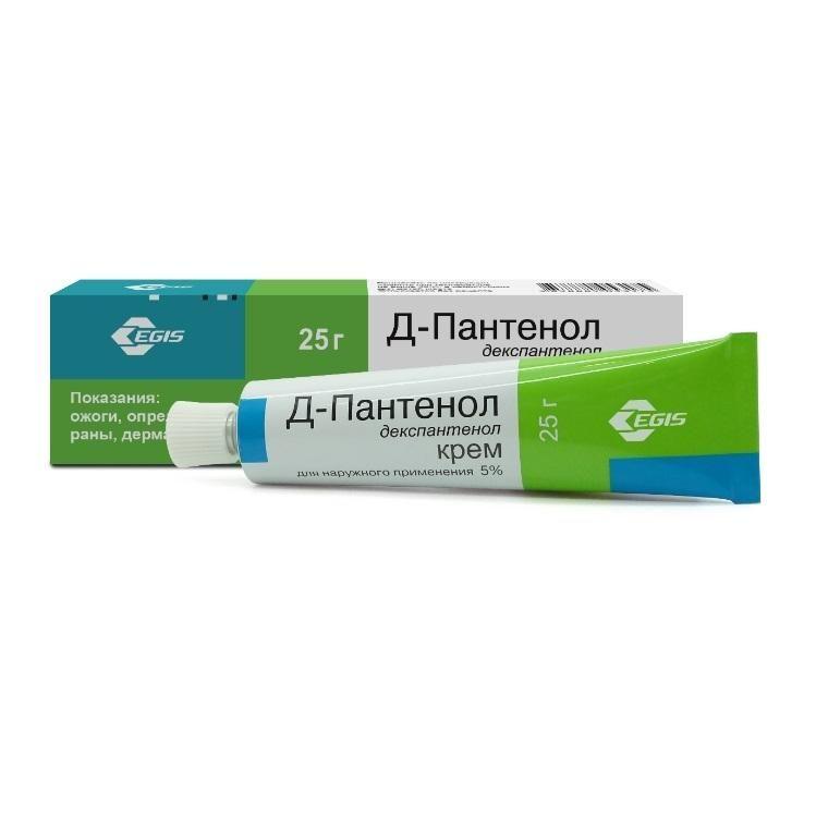 Д-Пантенол, 5%, крем для наружного применения, 25 г, 1 шт.