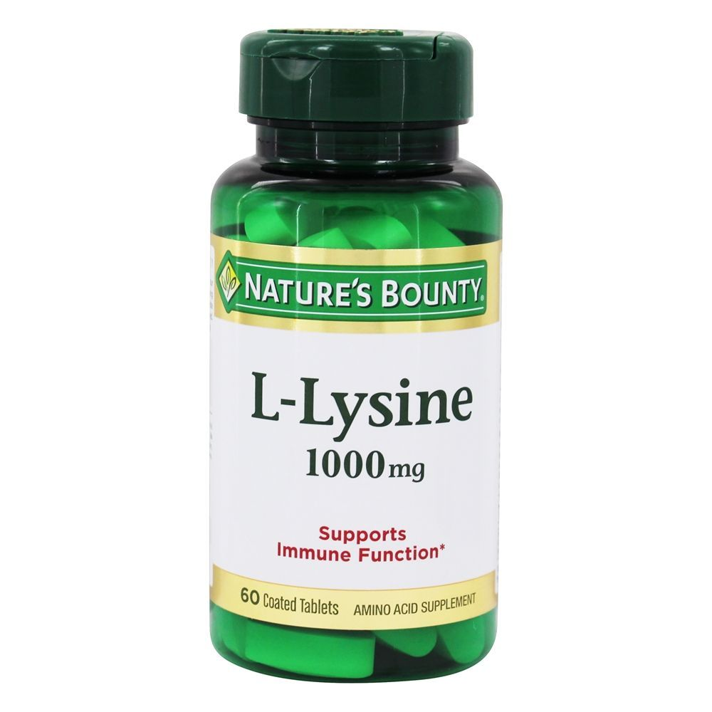 фото упаковки Natures Bounty L-лизин 1000 мг