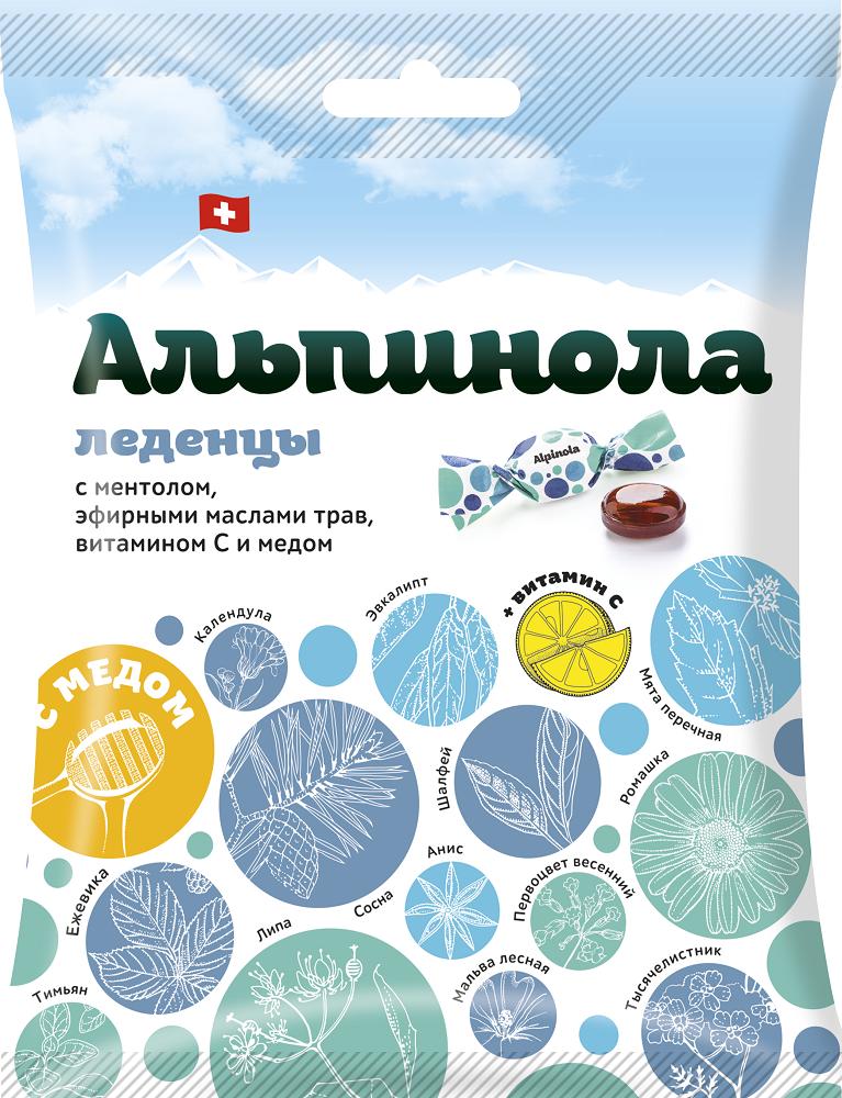 фото упаковки Альпинола леденцы с медом Ментол-Эфирные масла-Витамин C