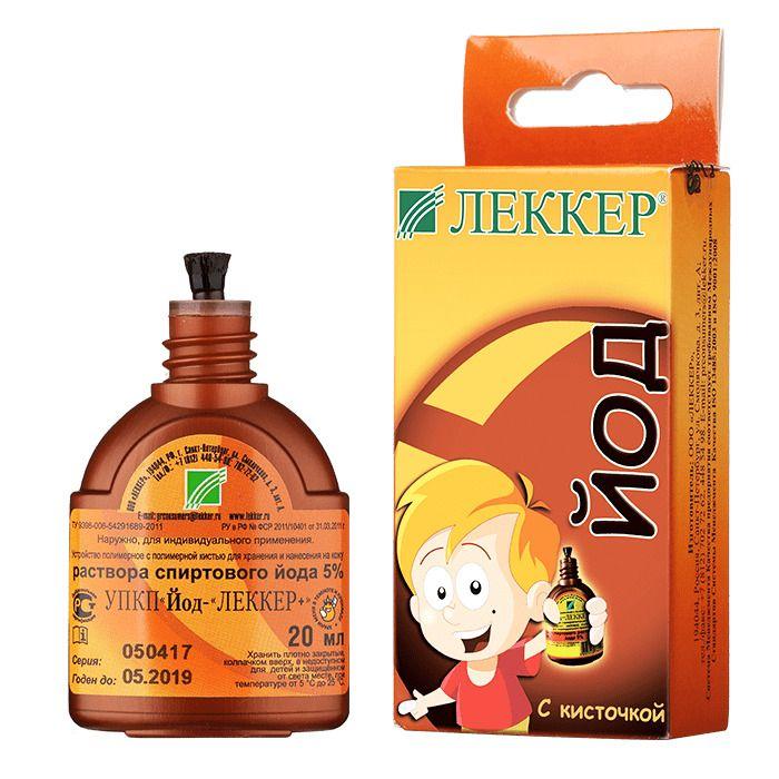 Леккер УПК 5% спиртового раствора йода