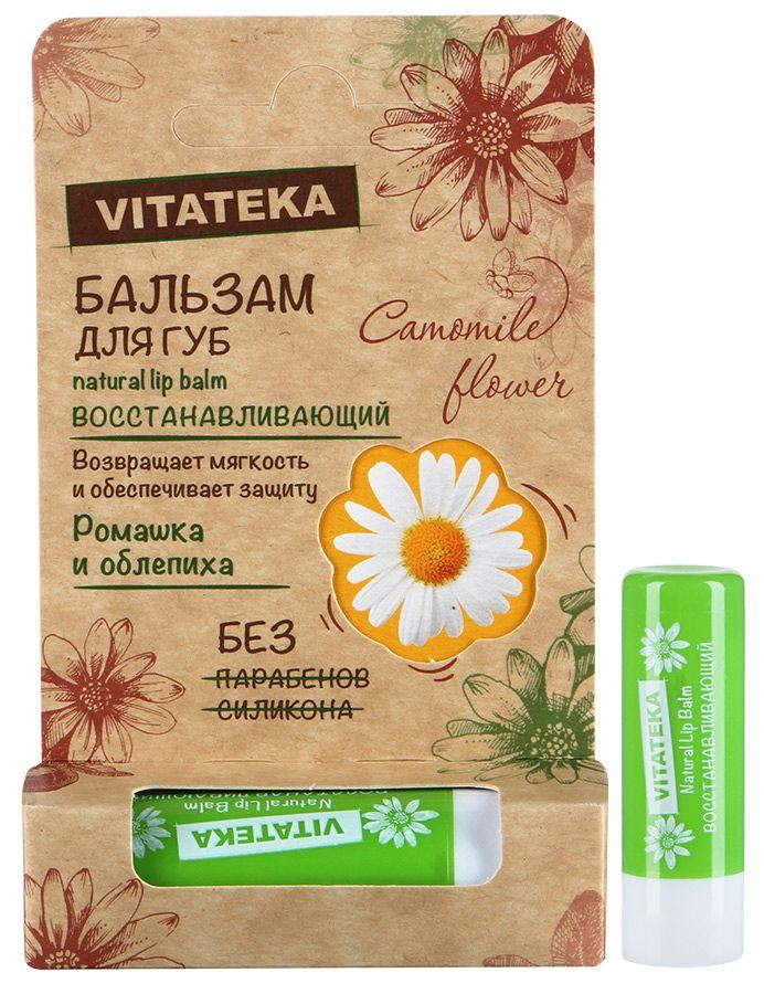фото упаковки Витатека Бальзам для губ Ромашка и облепиха