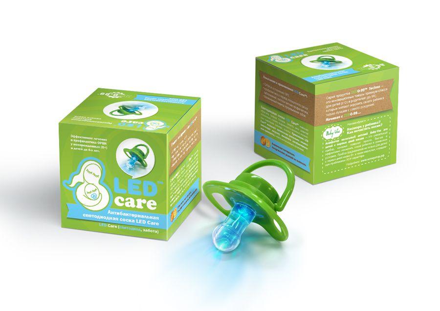 Led care Соска светодиодная антибактериальная, 1 шт.