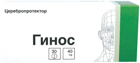 Гинос, 40 мг, таблетки, покрытые пленочной оболочкой, 30 шт.