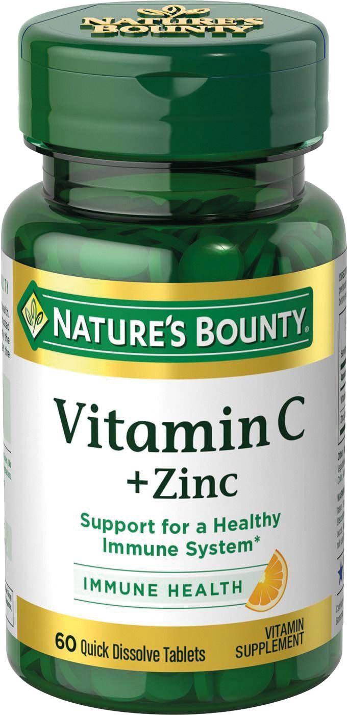 фото упаковки Natures Bounty Витамин С плюс цинк