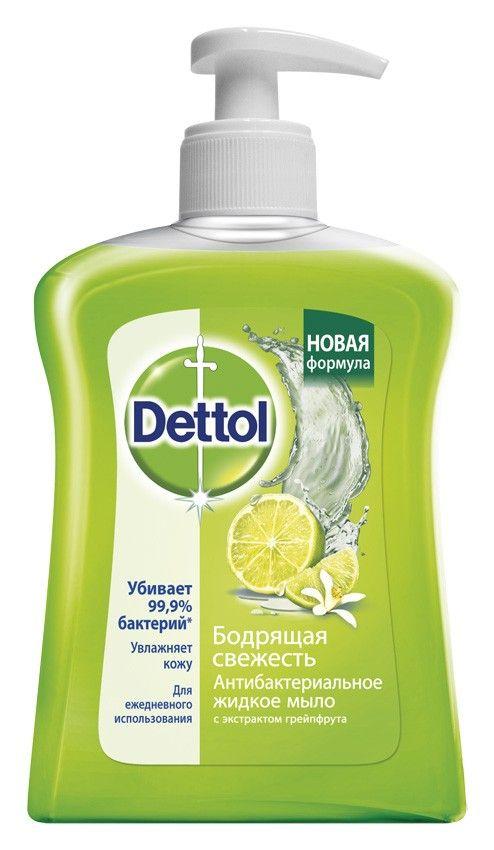 фото упаковки Dettol Мыло жидкое для рук Антибактериальное грейпфрут