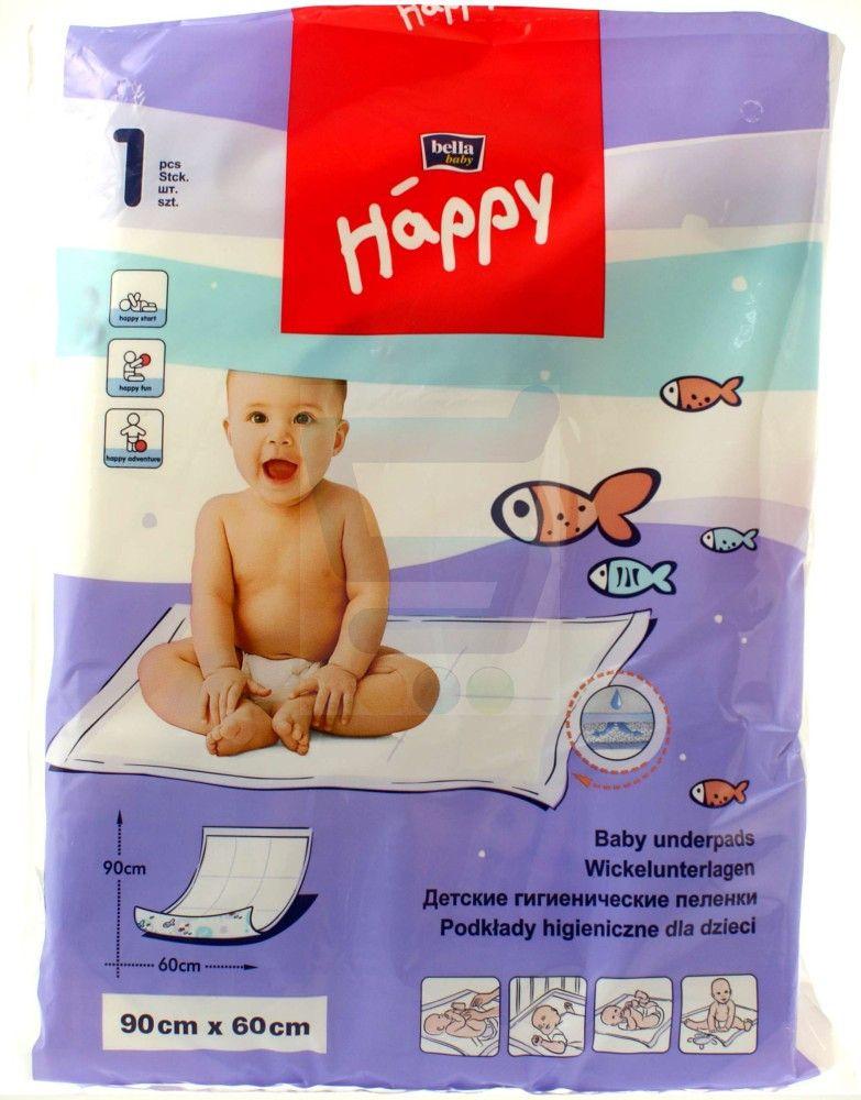 Пеленки детские впитывающие Bella baby Happy, 90 смx60 см, 1 шт.