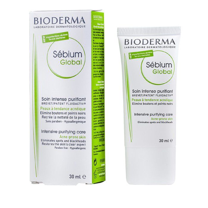 Bioderma Sebium Global Интенсивный Оздоравливающий уход, крем для лица, 30 мл, 1шт.