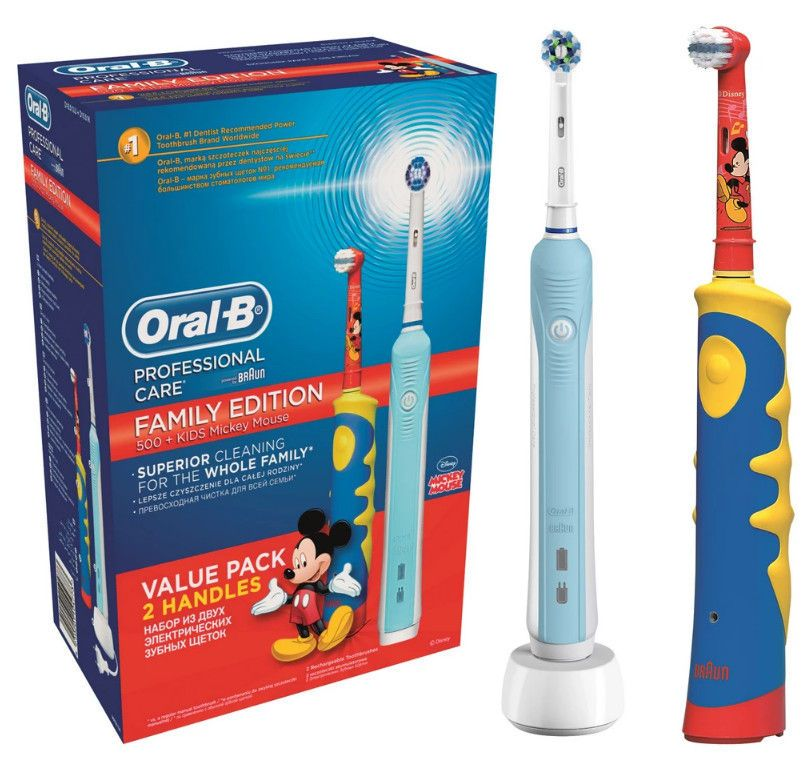 фото упаковки Набор Oral-B Family Pack Professional Care + Oral-B KIDS Mickey