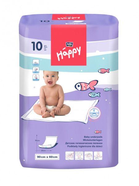 Пеленки детские впитывающие Bella baby Happy, 90 смx60 см, 10 шт.
