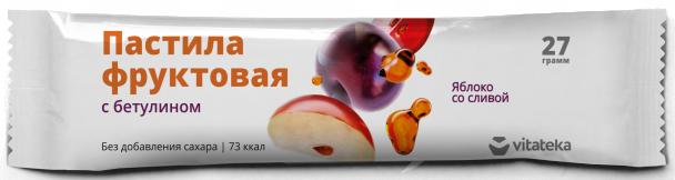 фото упаковки Витатека Пастила фруктовая Яблоко со сливой