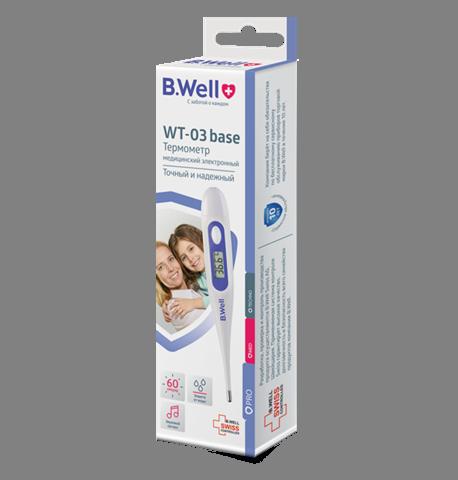 фото упаковки Термометр медицинский электронный WT-03 base Семейный