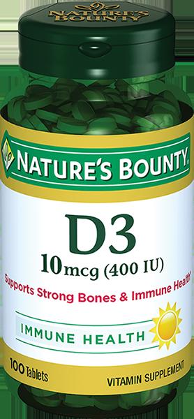 фото упаковки Natures Bounty Витамин D3