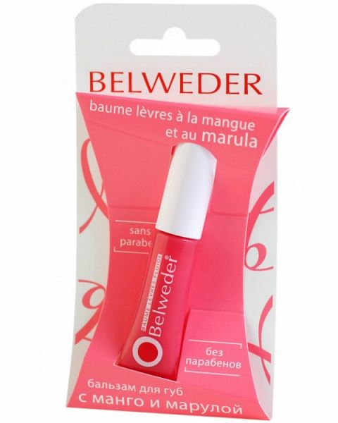 фото упаковки Belweder Бальзам для губ с манго и марулой