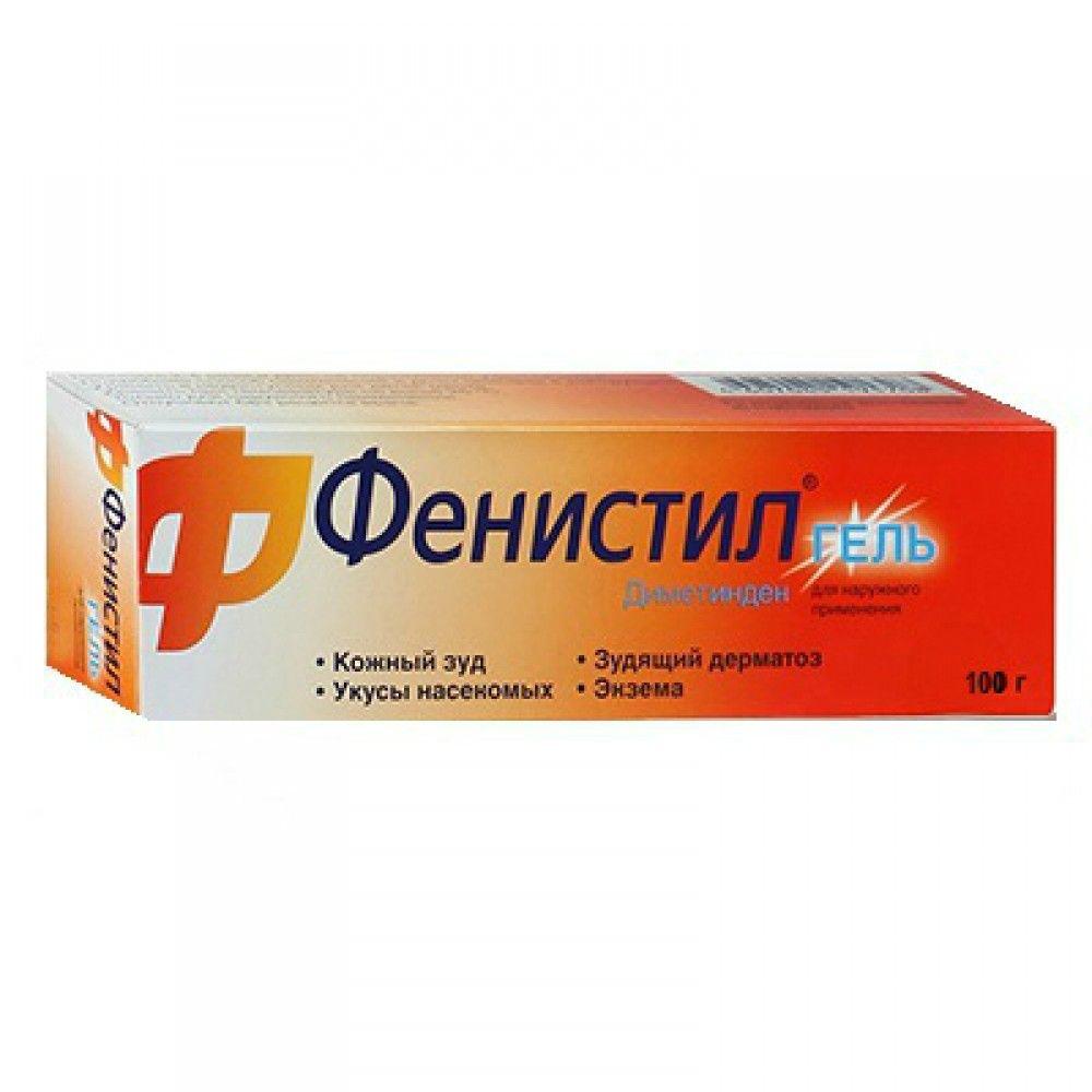 Фенистил, 0.1%, гель для наружного применения, 100 г, 1 шт.