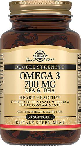 Solgar Двойная Омега-3 700 мг ЭПК и ДГК, 700 мг, капсулы, 30 шт.