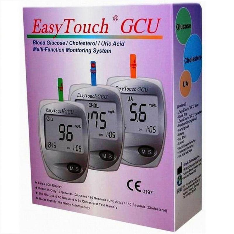фото упаковки EasyTouch GCU анализатор крови Глюкоза Холестерин Мочевая кислота