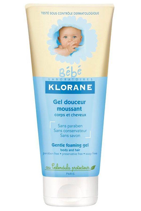 Klorane Bebe Мягкий пенящийся гель для волос и тела, гель для детей, 200 мл, 1 шт.