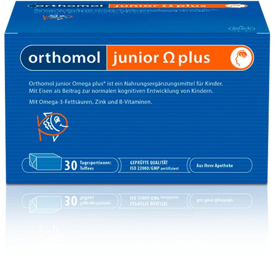 Orthomol Junior Omega plus, 5 г, ириски, на 30 дней, 30шт.