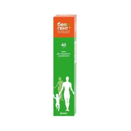 Белогент, 0.5 мг/г+1 мг/г, крем для наружного применения, 40 г, 1 шт.