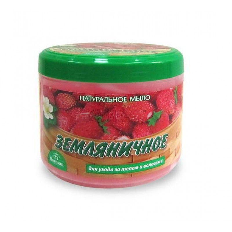 фото упаковки Floresan мыло натуральное Земляничное для тела и волос