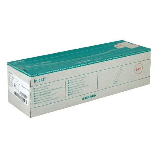 фото упаковки Шприц Injekt 2-х компонентный съемная игла 22G