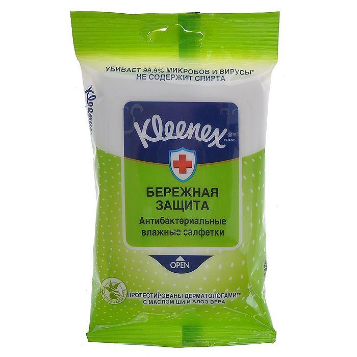 фото упаковки Kleenex Салфетки влажные антибактериальные