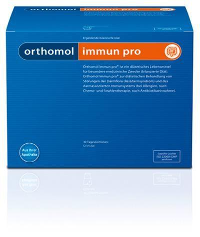 Orthomol Immun Pro Тройная польза кишечнику, порошок, на 30 дней, 15 г, 60 шт.