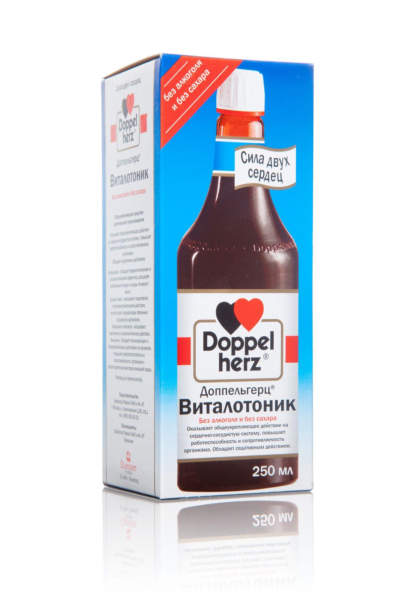 Доппельгерц Виталотоник, раствор для приема внутрь, 250 мл, 1 шт.