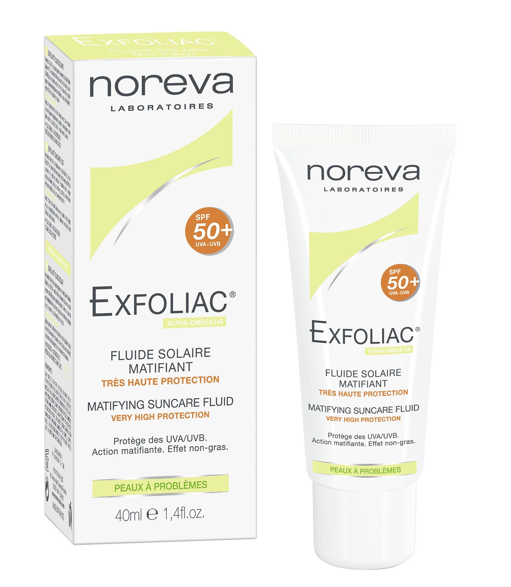 Noreva Exfoliac Матирующая солнцезащитная эмульсия SPF50+, эмульсия, 40 мл, 1 шт.