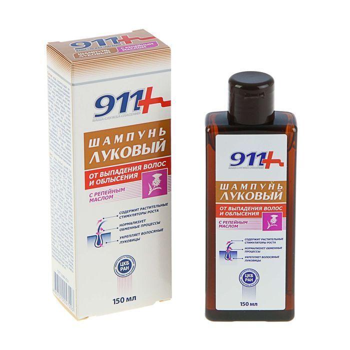 фото упаковки 911 шампунь Луковый с репейным маслом