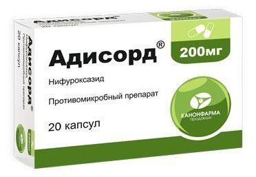 Адисорд, 200 мг, таблетки, покрытые пленочной оболочкой, 20 шт.