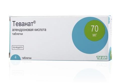 Теванат, 70 мг, таблетки, 4шт.
