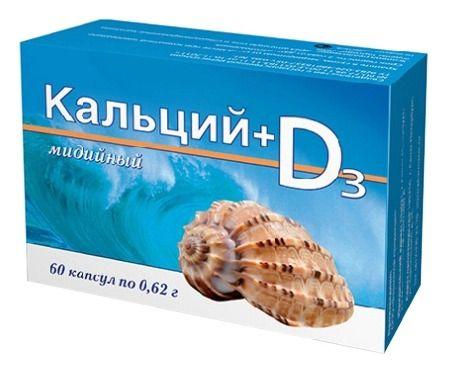 фото упаковки Кальций мидийный + Витамин D3