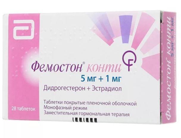фото упаковки Фемостон конти