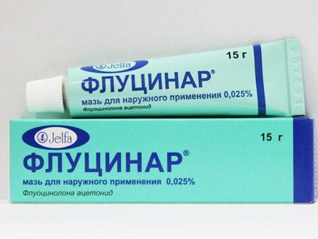 Флуцинар, 0.025%, мазь для наружного применения, 15 г, 1 шт.