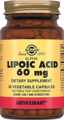 фото упаковки Solgar Альфа-липоевая кислота 60 мг