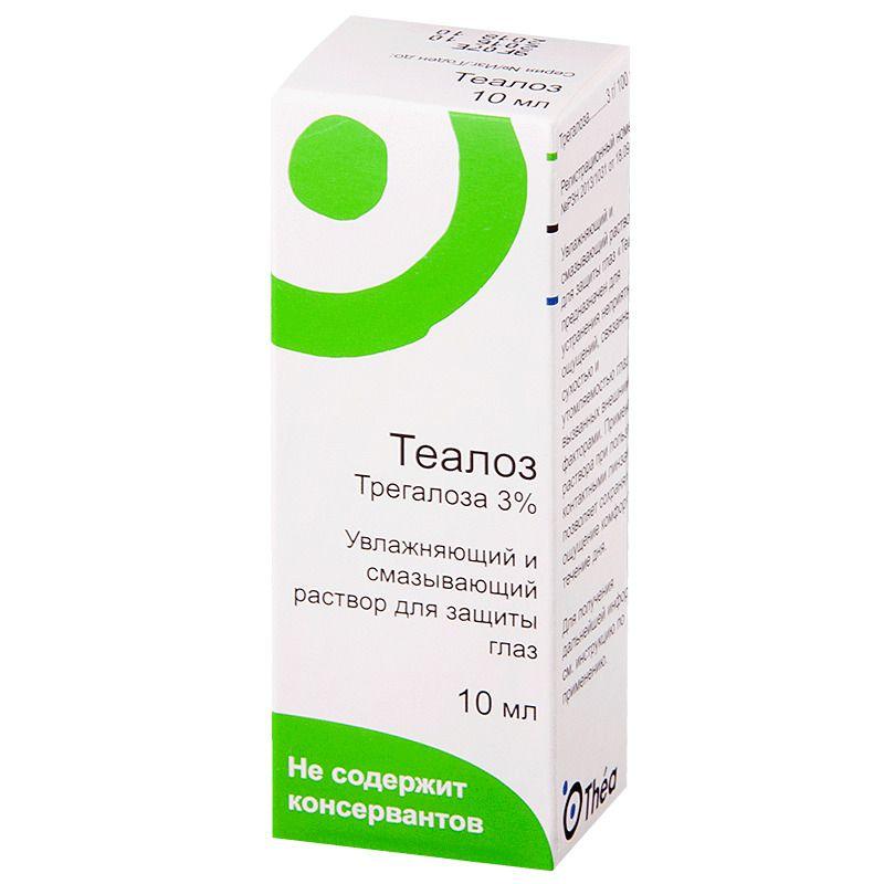 фото упаковки Теалоз Увлажняющий и смазывающий раствор для защиты глаз