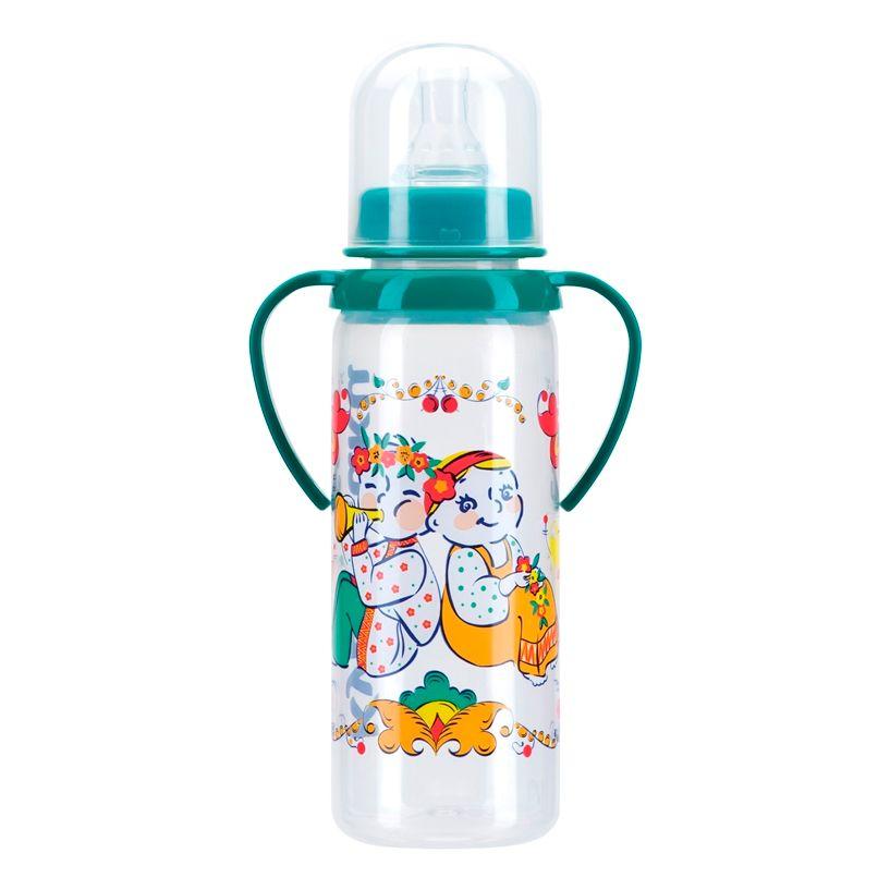 фото упаковки Курносики бутылочка с ручками и силиконовой соской 6 мес+