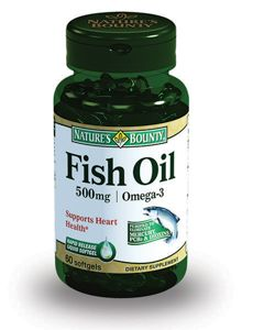 Natures Bounty Рыбий жир 500 мг Омега-3, 500 мг, капсулы, 60 шт.