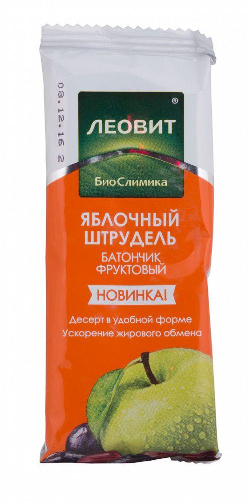 фото упаковки Леовит БиоСлимика Батончик фруктовый яблочный штрудель