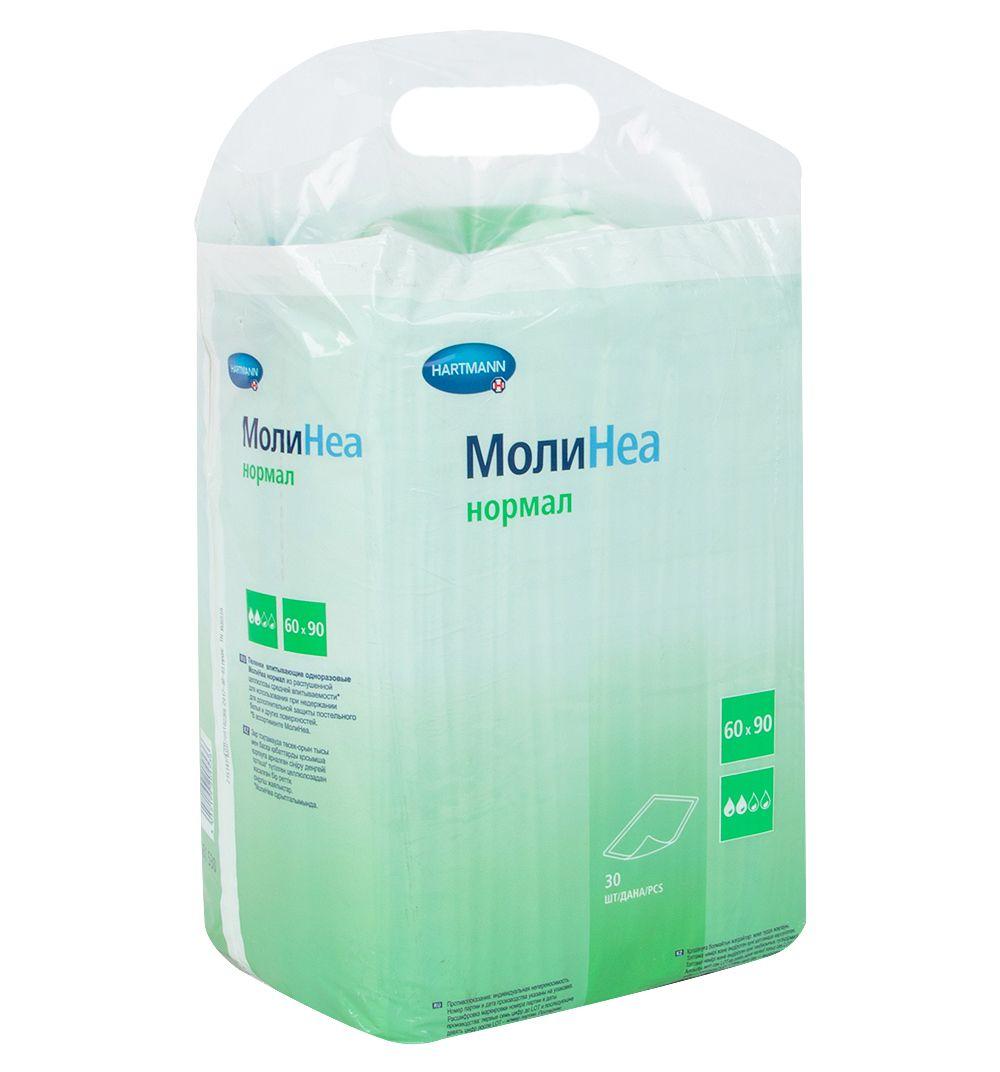 фото упаковки Hartmann Molinea Normal Пеленки впитывающие