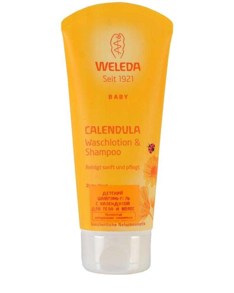 фото упаковки Weleda Шампунь-гель для волос и тела с календулой детский