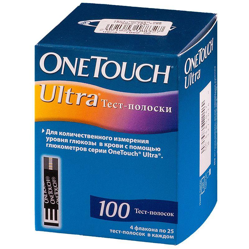 Тест-полоски OneTouch Ultra, тест-полоска, 100 шт.