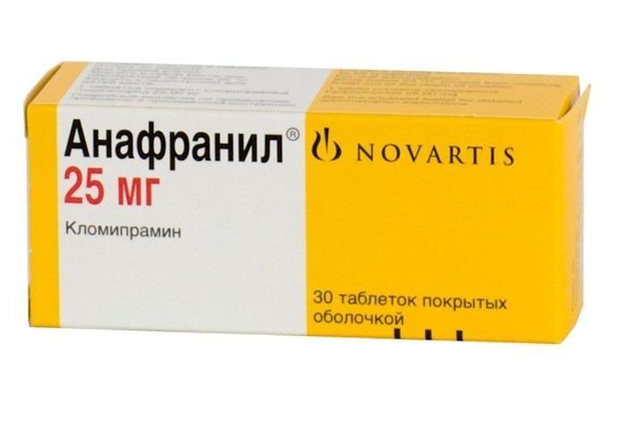 Анафранил, 25 мг, таблетки, покрытые оболочкой, 30 шт.